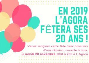 Réunion préparation 20 ans de L'Agora