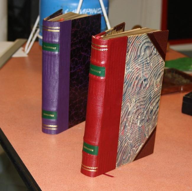 Travaux reliure Livres reliés par les membre de l'atelier reliure