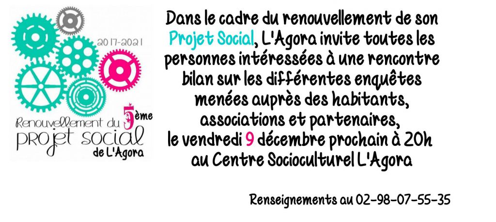 Projet social : réunion publique