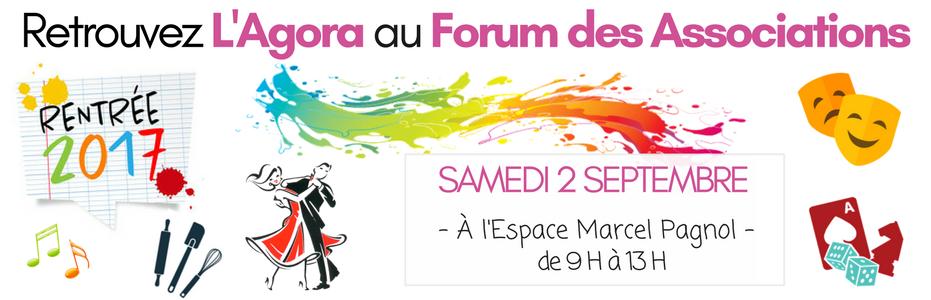 L'AGORA au Forum des Associations 2017/2018