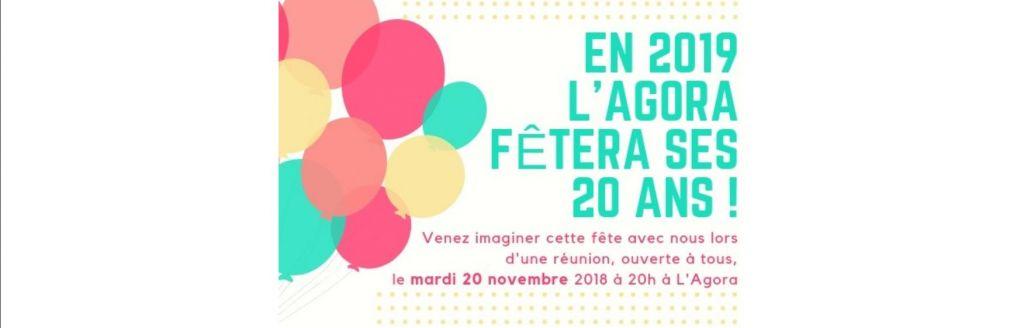 L'Agora fête ses 20 ans en 2019