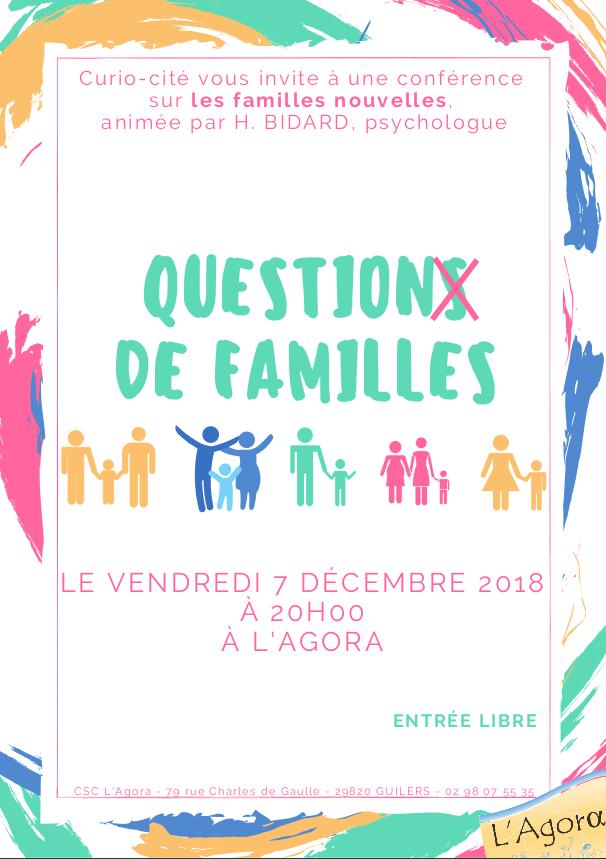 Curio-cité – Conférence sur les familles nouvelles