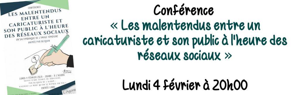 Conférence :  « Les malentendus entre un caricaturiste et son public à l'heure des réseaux sociaux »