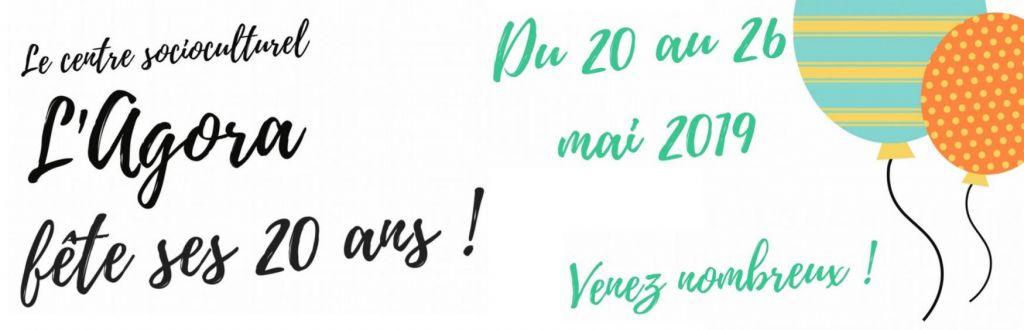 Le centre socioculturel L'Agora fête ses 20 ans !