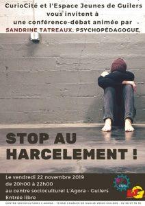 Conférence débat : Stop au harcèlement !