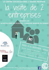 Visite d'entreprise : Armor Lux & Distillerie du Plessis / Cidrerie Manoir de Kinkiz