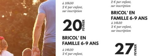 Sortie familiale : Bricol'en famille 3-5 ans
