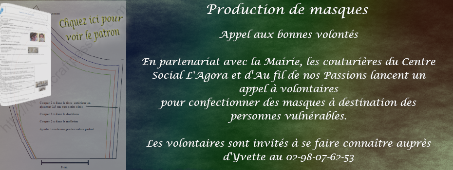 Appel confection de masques