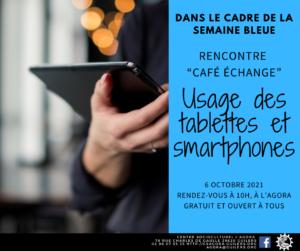 Semaine Bleue : Échange - Débat : Tablettes et Smartphones